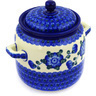 6-inch Stoneware Jar with Lid and Handles - Polmedia Polish Pottery H8795D