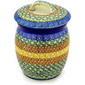 6-inch Stoneware Jar with Lid - Polmedia Polish Pottery H0120D