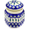 6-inch Stoneware Jar with Lid - Polmedia Polish Pottery H0311E