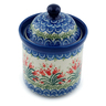 6-inch Stoneware Jar with Lid - Polmedia Polish Pottery H0427I