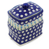 6-inch Stoneware Jar with Lid - Polmedia Polish Pottery H0547F