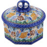 6-inch Stoneware Jar with Lid - Polmedia Polish Pottery H0559G