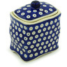 6-inch Stoneware Jar with Lid - Polmedia Polish Pottery H0625H