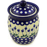 6-inch Stoneware Jar with Lid - Polmedia Polish Pottery H0661D
