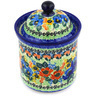 6-inch Stoneware Jar with Lid - Polmedia Polish Pottery H0680E