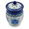 6-inch Stoneware Jar with Lid - Polmedia Polish Pottery H0685I