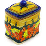 6-inch Stoneware Jar with Lid - Polmedia Polish Pottery H0724F