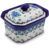 6-inch Stoneware Jar with Lid - Polmedia Polish Pottery H0745I