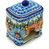 6-inch Stoneware Jar with Lid - Polmedia Polish Pottery H0811H