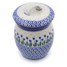 6-inch Stoneware Jar with Lid - Polmedia Polish Pottery H1096J