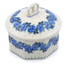 6-inch Stoneware Jar with Lid - Polmedia Polish Pottery H1126J