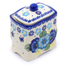 6-inch Stoneware Jar with Lid - Polmedia Polish Pottery H1382J