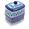 6-inch Stoneware Jar with Lid - Polmedia Polish Pottery H1388J