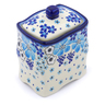 6-inch Stoneware Jar with Lid - Polmedia Polish Pottery H1408J
