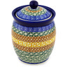6-inch Stoneware Jar with Lid - Polmedia Polish Pottery H1713D
