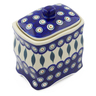 6-inch Stoneware Jar with Lid - Polmedia Polish Pottery H2322F