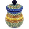 6-inch Stoneware Jar with Lid - Polmedia Polish Pottery H2733D