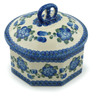 6-inch Stoneware Jar with Lid - Polmedia Polish Pottery H3085A