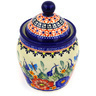 6-inch Stoneware Jar with Lid - Polmedia Polish Pottery H3096E