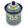 6-inch Stoneware Jar with Lid - Polmedia Polish Pottery H3317J
