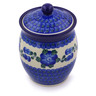 6-inch Stoneware Jar with Lid - Polmedia Polish Pottery H3529A