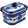 6-inch Stoneware Jar with Lid - Polmedia Polish Pottery H4232F