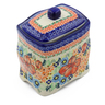 6-inch Stoneware Jar with Lid - Polmedia Polish Pottery H4982F