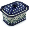 6-inch Stoneware Jar with Lid - Polmedia Polish Pottery H5492A