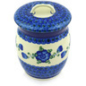 6-inch Stoneware Jar with Lid - Polmedia Polish Pottery H5765G