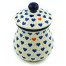 6-inch Stoneware Jar with Lid - Polmedia Polish Pottery H6127H
