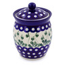 6-inch Stoneware Jar with Lid - Polmedia Polish Pottery H6275B