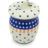 6-inch Stoneware Jar with Lid - Polmedia Polish Pottery H6487H