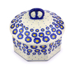 6-inch Stoneware Jar with Lid - Polmedia Polish Pottery H7223I