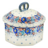 6-inch Stoneware Jar with Lid - Polmedia Polish Pottery H7422J