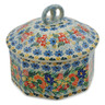 6-inch Stoneware Jar with Lid - Polmedia Polish Pottery H7423J