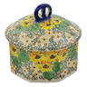 6-inch Stoneware Jar with Lid - Polmedia Polish Pottery H7425J