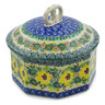 6-inch Stoneware Jar with Lid - Polmedia Polish Pottery H7426J