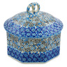 6-inch Stoneware Jar with Lid - Polmedia Polish Pottery H7431J