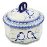 6-inch Stoneware Jar with Lid - Polmedia Polish Pottery H7434J