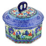 6-inch Stoneware Jar with Lid - Polmedia Polish Pottery H7436J