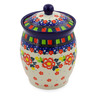 6-inch Stoneware Jar with Lid - Polmedia Polish Pottery H7502J