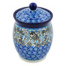 6-inch Stoneware Jar with Lid - Polmedia Polish Pottery H7505J