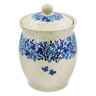 6-inch Stoneware Jar with Lid - Polmedia Polish Pottery H7508J