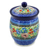6-inch Stoneware Jar with Lid - Polmedia Polish Pottery H7511J
