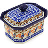 6-inch Stoneware Jar with Lid - Polmedia Polish Pottery H7909E