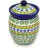 6-inch Stoneware Jar with Lid - Polmedia Polish Pottery H7989D