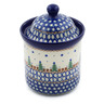 6-inch Stoneware Jar with Lid - Polmedia Polish Pottery H8593A