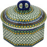 6-inch Stoneware Jar with Lid - Polmedia Polish Pottery H8670G