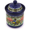 6-inch Stoneware Jar with Lid - Polmedia Polish Pottery H9035G