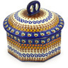 6-inch Stoneware Jar with Lid - Polmedia Polish Pottery H9530E